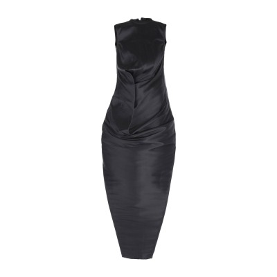 リック オウエンス RICK OWENS ロングワンピース&ドレス ブラック 40 シルク 100% ロングワンピース&ドレス