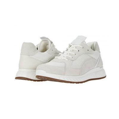 ECCO エコー レディース 女性用 シューズ 靴 スニーカー 運動靴 ST.1 Trend Sneaker - Shadow White/White/Shadow White/White Calf Suede/Yak Leather/Yak