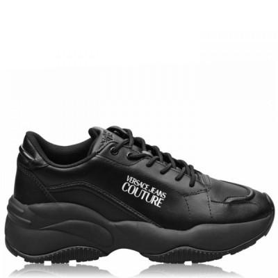 ヴェルサーチ VERSACE JEANS COUTURE メンズ スニーカー シューズ・靴 Classic Logo Trainers Black