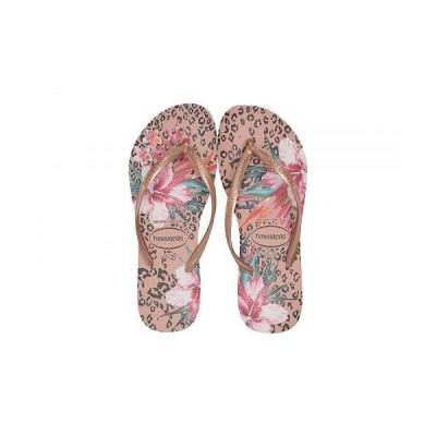 Havaianas ハワイアナス レディース 女性用 シューズ 靴 サンダル Slim Animal Floral - Crocus Rose