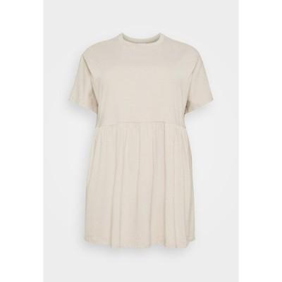 ノイジー メイ カーブ ワンピース レディース トップス NMKERRY SHORT DRESS - Jersey dress - chateau gray