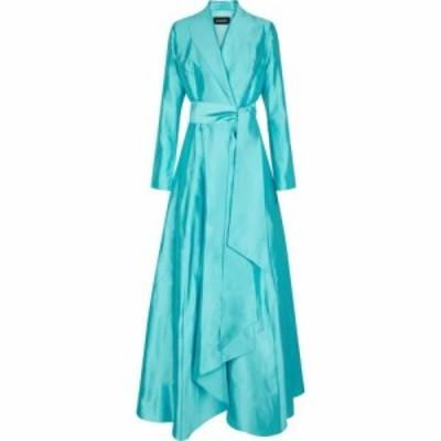 ロサリオ RASARIO レディース パーティードレス ワンピース・ドレス Silk shantung gown Turquoise