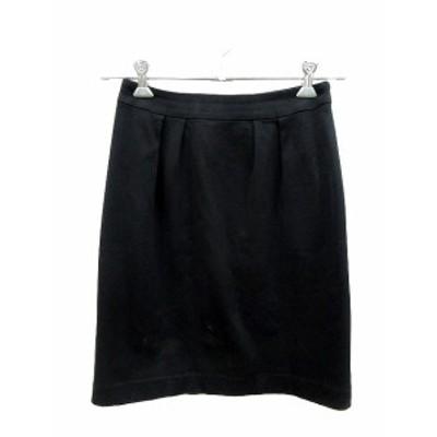 【中古】クリアインプレッション CLEAR IMPRESSION スカート 台形 ひざ丈 2 黒 ブラック /CT レディース