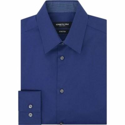 ケネス コール Kenneth Cole メンズ シャツ トップス Wood Stretch Shirt With Trim Blue