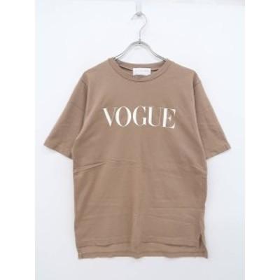 MIRROR9(ミラーナイン)VOUGE Tシャツ 半袖 茶 レディース Aランク