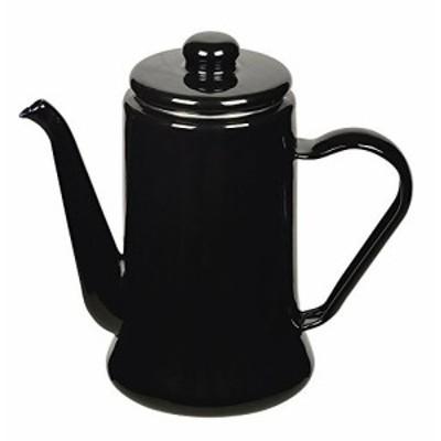 パール金属 カフェテリア ホーロー コーヒーポット 1.1L ブラック HB-2583