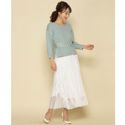 【アンドクチュール/And Couture】 リバーシブルメッシュレーススカート
