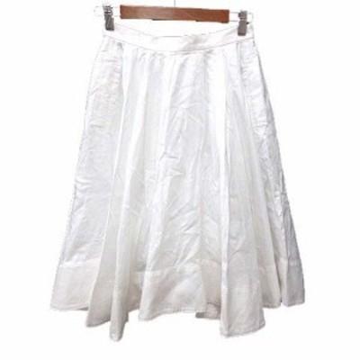 【中古】ザヴァージニア The Virgnia フレアスカート ひざ丈 38 白 ホワイト /YK レディース