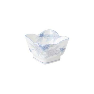和食器 ト477-637 しゃくなげ 花角3.6鉢