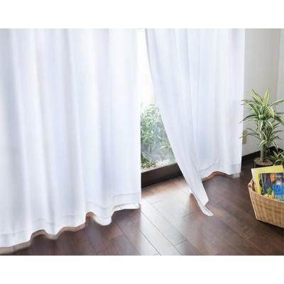 汚れが落ちやすい UVカット ミラーレース カーテン 2枚組 100×176cm