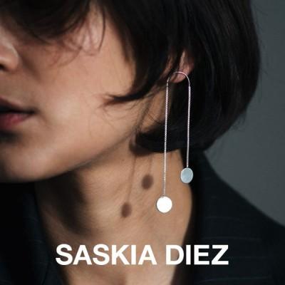SASKIA DIEZ サスキア ディーツ SILVER DANCING PAILLETTES EARRINGS NO2 シルバー ダンシング パイエット ピアス ブランド