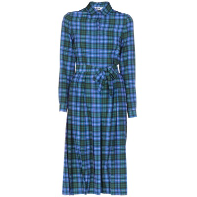 エムエスジーエム MSGM 7分丈ワンピース・ドレス ブライトブルー 40 ポリエステル 100% 7分丈ワンピース・ドレス