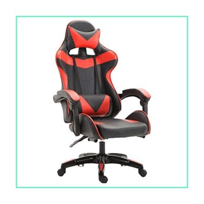 Gaming Chair Computer Office Chair Rotating Lifting High Back Adjusting Ergonomic Chair with Neck/Lumbar Support,Black-Red並行輸入品