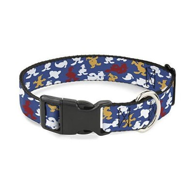 Cat Collar Breakaway Donald Duck Face Poses Scattered Blue White Red Yellow 8 to 12 Inches 0.5 Inch Wide【並行輸入品】