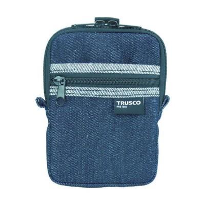トラスコ中山トラスコ中山(TRUSCO) TRUSCO デニムコンパクトケース 2ポケット ブラック TDC-K102 1個 768-9969(直送品)