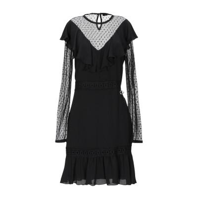 MANGANO ミニワンピース&ドレス ブラック L ポリエステル 100% / ナイロン ミニワンピース&ドレス