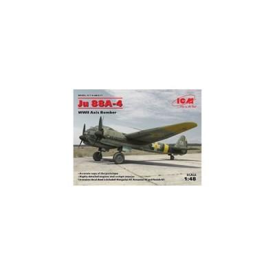 ICM 1/ 48 ユンカース Ju88A-4 爆撃機 枢軸国軍(48237)プラモデル 返品種別B