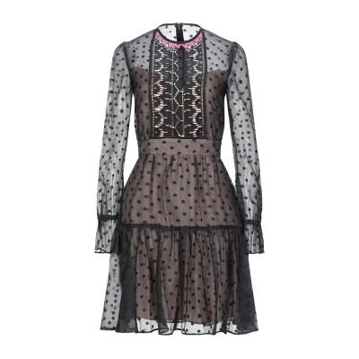 テンパリー・ロンドン TEMPERLEY LONDON ミニワンピース&ドレス ブラック 10 コットン 65% / ポリエステル 35% ミニワン