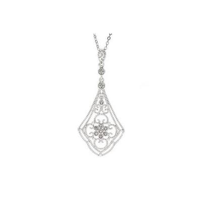 ラプレシオサ ジェムストーン La Preciosa Sterling Silver 1/10ct TDW Diamond Pendant Necklace (I-J, I3)