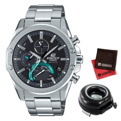 (時計ケース丸型・クロスセット)(国内正規品)(カシオ)CASIO 腕時計 EQB-1000YD-1AJF (エディフィス)EDIFICE メンズ 薄型 Bluetooth搭載