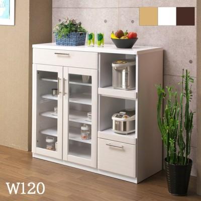 レンジ台 食器棚 120 キッチン 収納 おしゃれ 完成品