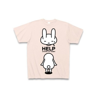 stuffed toy rabbit(HELP4) Tシャツ Pure Color Print(ライトピンク)