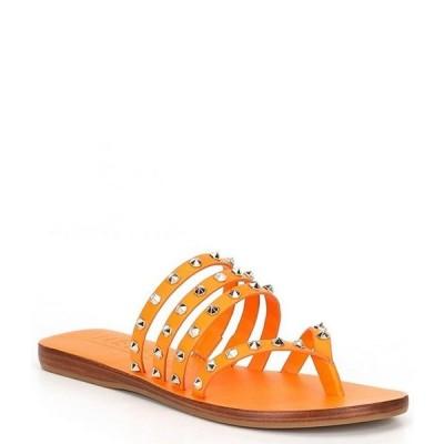 アントニオ メラーニ レディース サンダル シューズ Lyndy Leather Studded Detail Thong Sandals