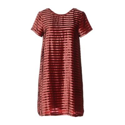 INTROPIA ミニワンピース&ドレス ガーネット 38 レーヨン 41% / 金属繊維 41% / シルク 18% ミニワンピース&ドレス