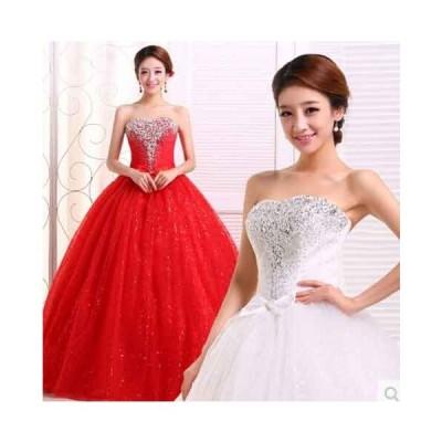 送料無料 韓国高級ウェディングドレス激安豪華なウェディングドレス結婚式パーティー披露宴