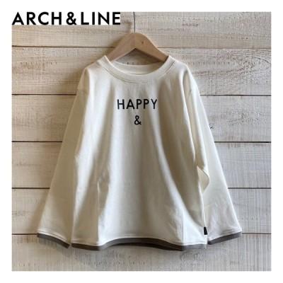 ARCH&LINE(アーチアンドライン) CLEAR COTTON HAPPY &  L/S TEE 子供服/Tシャツ WHITE ARCH&LINEより入荷