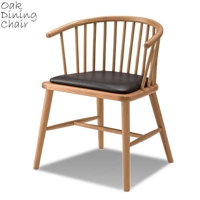 北欧風ダイニングチェア 天然木 レザーシート カフェチェア チェア 椅子