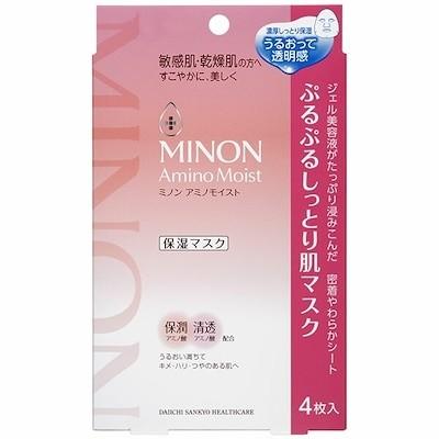 ミノンアミノモイスト ぷるぷるしっとり肌マスク 22ml4枚
