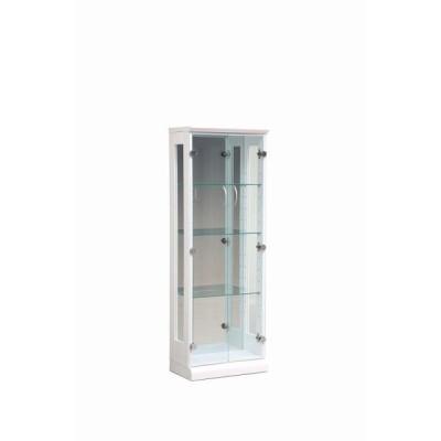 送料無料  コレクションケース ガラスショーケース コレクションボード ホワイト 白 強化ガラス扉 ガラス棚 幅45