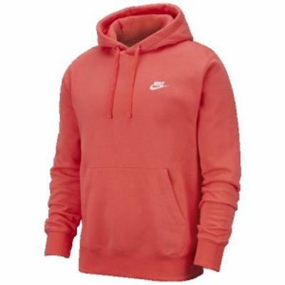(取寄)ナイキ メンズ クラブ プルオーバー フーディ Nike Men's Club Pullover Hoodie Ember Glow White
