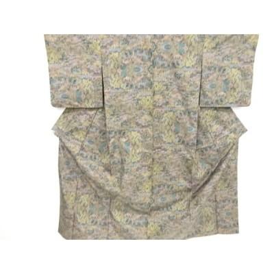 宗sou 屋敷風景模様織り出し本場泥大島紬着物(5マルキ)【リサイクル】【着】
