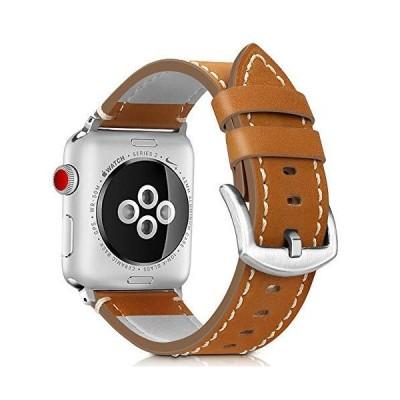 Runostrich コンパチブル apple watch バンド 44mm 42mm本革 ビジネススタイル コンパチブル アップルウォッチバンド コ