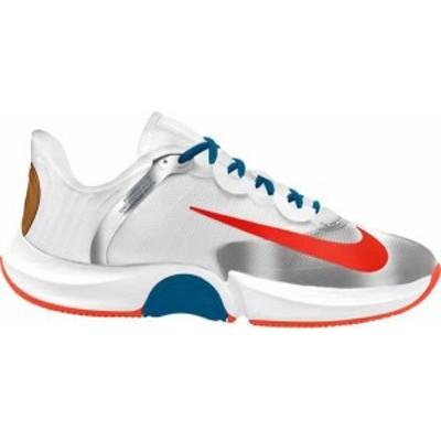 ナイキ メンズ スニーカー シューズ Nike Men's Court Air Zoom GP Turbo Tennis Shoes White/Orange