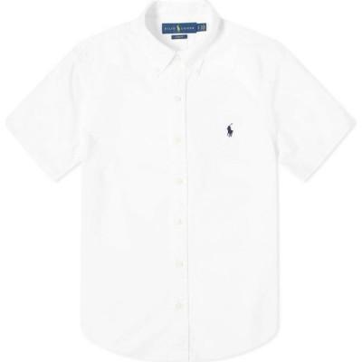 ラルフ ローレン Polo Ralph Lauren メンズ 半袖シャツ トップス short sleeve garment dyed oxford shirt White