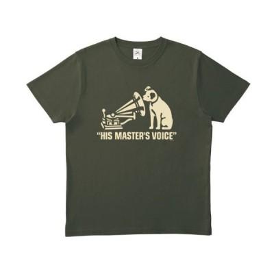 ニッパー・ロゴTシャツ(アーミーグリーン+アイボリー) JVCニッパー