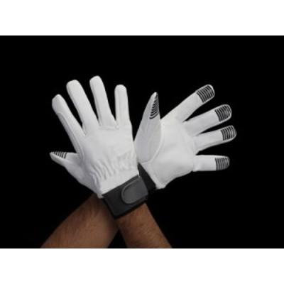 エスコ(ESCO) [LL] 手袋(指先すべり止付・合成皮革) EA353BJ-113