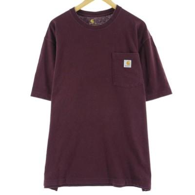 カーハート ワンポイントロゴポケットTシャツ L /eaa063422