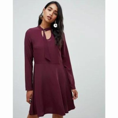 ヴィラ ワンピース Buckle Neck Dress Winetasting