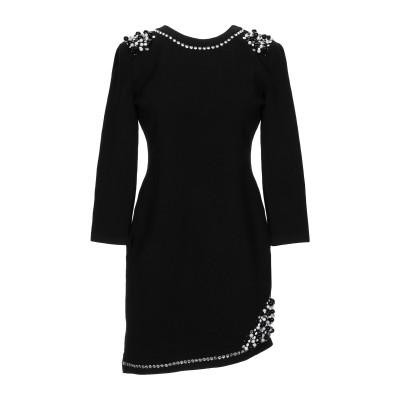 ALTEЯƎGO ミニワンピース&ドレス ブラック 42 ウール 60% / レーヨン 37% / ポリウレタン 3% ミニワンピース&ドレス