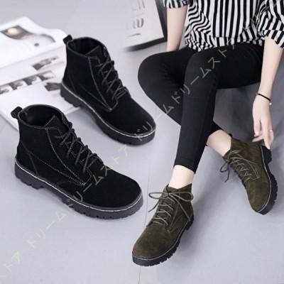 マーチンブーツ 防滑 レディース レースアップブーツ ワークブーツ 撥水加工 カジュアルシューズ アウトドア ブーツ 大きいサイズ 編み上げブーツ 婦人靴