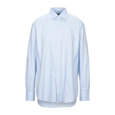 XACUS シャツ スカイブルー 45 コットン 100% シャツ