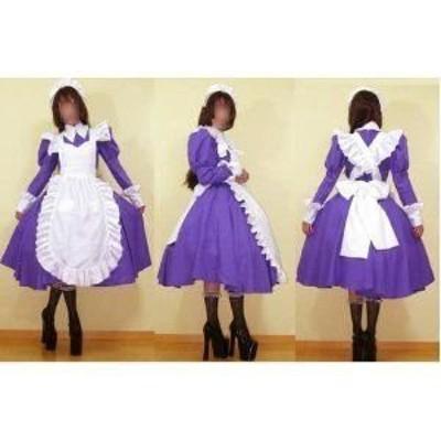 涼宮ハルヒの憂鬱 朝比奈みくる紫 メイド服  風 コスプレ衣装 ★  完全オーダメイドも対応可能 * K071