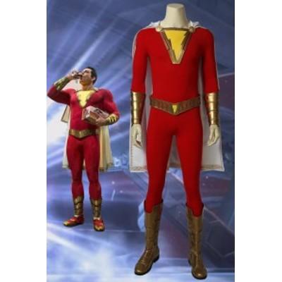 キャプテン?マーベル シャザム Shazam Captain Marvel Billy Batson コスプレ衣装[4196]