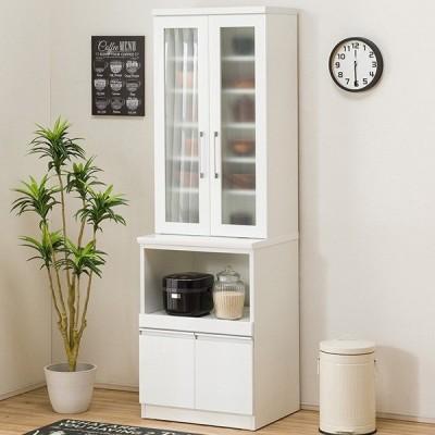 食器棚(レジューム 60TG-H WH/60TL WH) ニトリ 『配送員設置』 『5年保証』