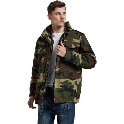 M-65 フィールドジャケット ウッドランドカモ 迷彩 (L, ウッドランドカモ)