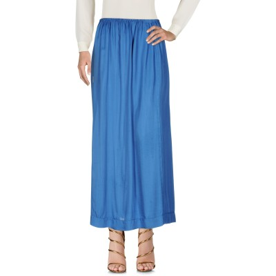 マニラ グレース MANILA GRACE ロングスカート ブルー 40 レーヨン 100% ロングスカート